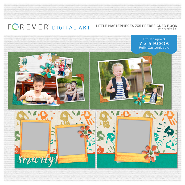 Little Masterpieces Predesigned Book Digital Art - Digital Scrapbooking Kits