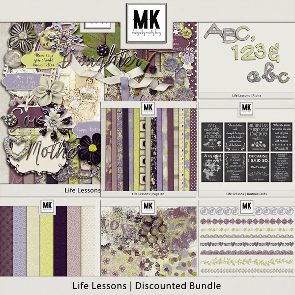 Life Lessons - Discounted Bundle Digital Art - Digital Scrapbooking Kits