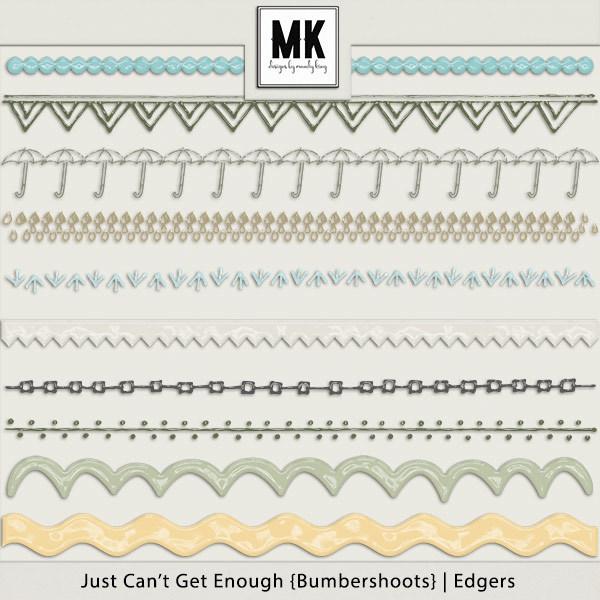 Just Can't Get Enough Bumbershoots - Edgers Digital Art - Digital Scrapbooking Kits