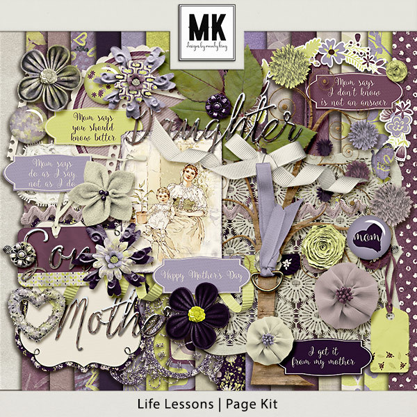 Life Lessons - Page Kit Digital Art - Digital Scrapbooking Kits