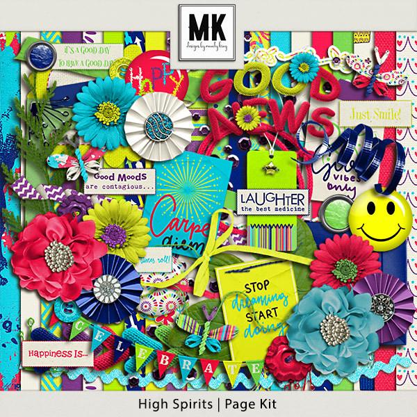 High Spirits - Page Kit Digital Art - Digital Scrapbooking Kits