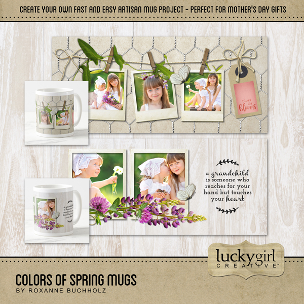 Colors Of Spring Mugs Digital Art - Digital Scrapbooking Kits