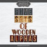 5 Wooden Alpha Sets