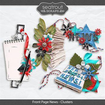 Front Page News - Clusters Digital Art - Digital Scrapbooking Kits