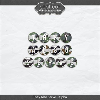 They Also Serve - Alphas Digital Art - Digital Scrapbooking Kits