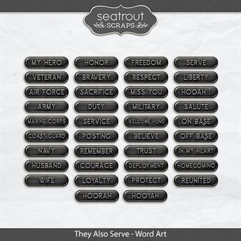 They Also Serve - Word Art Digital Art - Digital Scrapbooking Kits