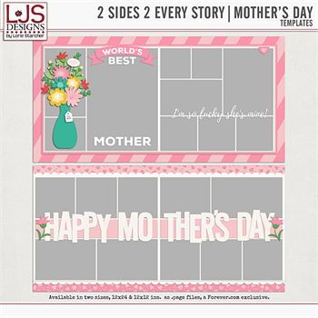 2 Sides 2 Every Story - Mother's Day Digital Art - Digital Scrapbooking Kits