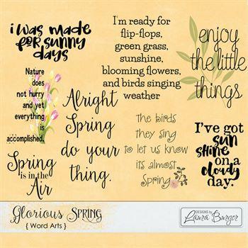 Glorious Spring Word Art Digital Art - Digital Scrapbooking Kits