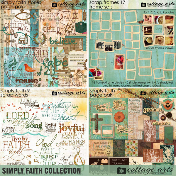 Simply Faith Collection Digital Art - Digital Scrapbooking Kits