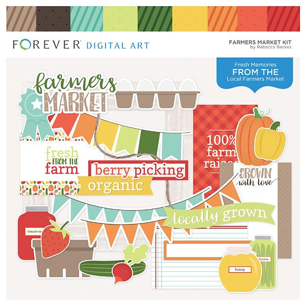 Farmers Market Kit Digital Art - Digital Scrapbooking Kits