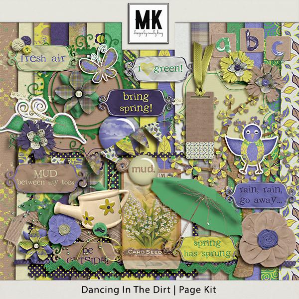 Dancing In The Dirt - Page Kit Digital Art - Digital Scrapbooking Kits