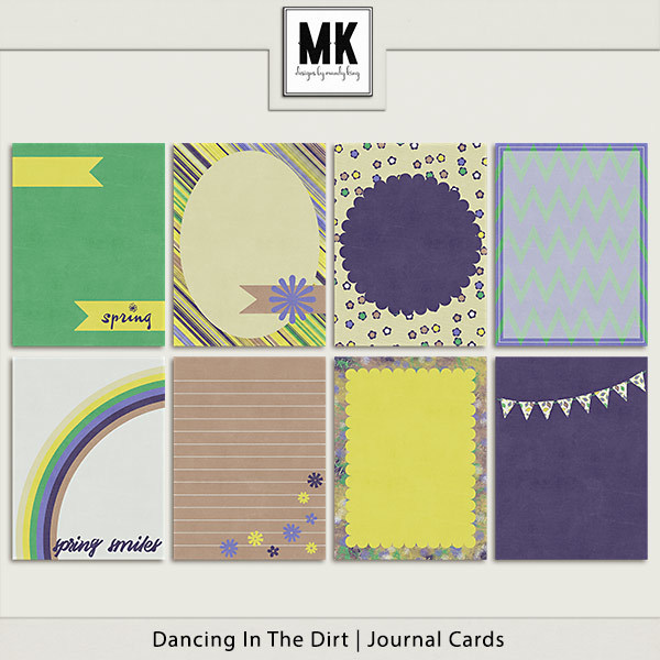 Dancing In The Dirt - Journal Cards Digital Art - Digital Scrapbooking Kits