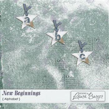 New Beginnings Alphabet Set Digital Art - Digital Scrapbooking Kits