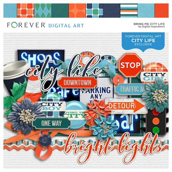 Bring Me City Life Digital Art - Digital Scrapbooking Kits