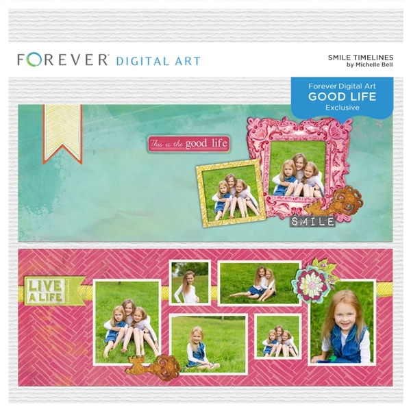 Smile Timelines Digital Art - Digital Scrapbooking Kits