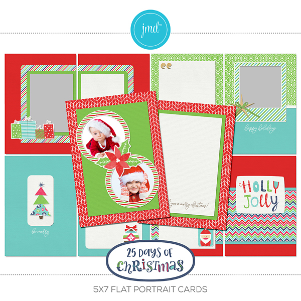 25 Days Of Christmas 5x7 Flat Portrait Cards
