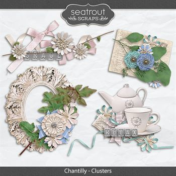 Chantilly - Clusters Digital Art - Digital Scrapbooking Kits