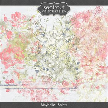Maybelle - Splats Digital Art - Digital Scrapbooking Kits