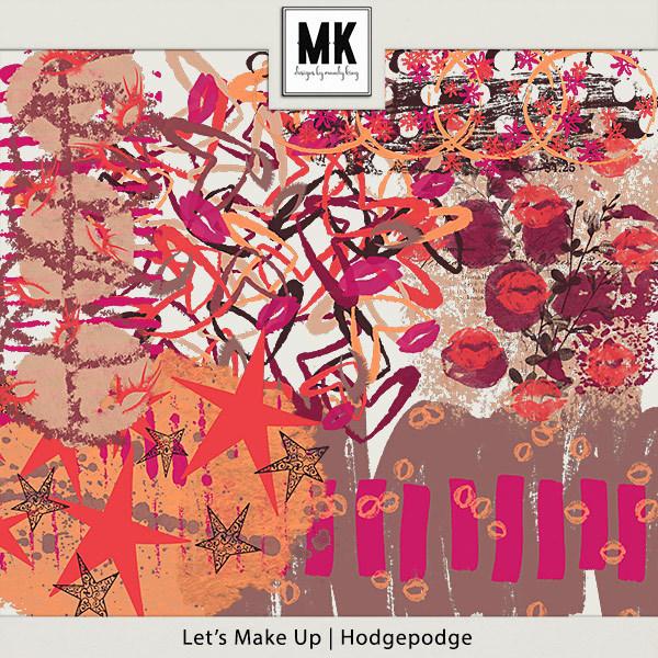 Let's Make Up - Hodgepodge Digital Art - Digital Scrapbooking Kits