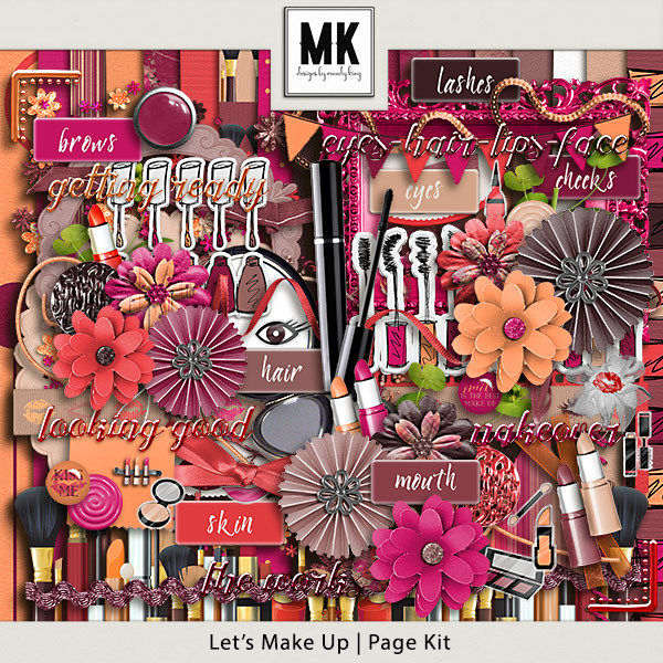Let's Make Up - Page Kit Digital Art - Digital Scrapbooking Kits