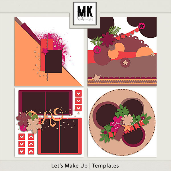 Let's Make Up - Templates Digital Art - Digital Scrapbooking Kits