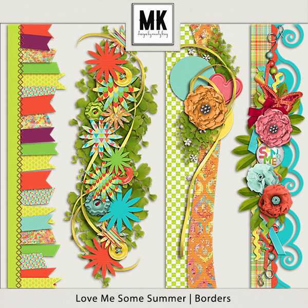 Love Me Some Summer - Borders Digital Art - Digital Scrapbooking Kits