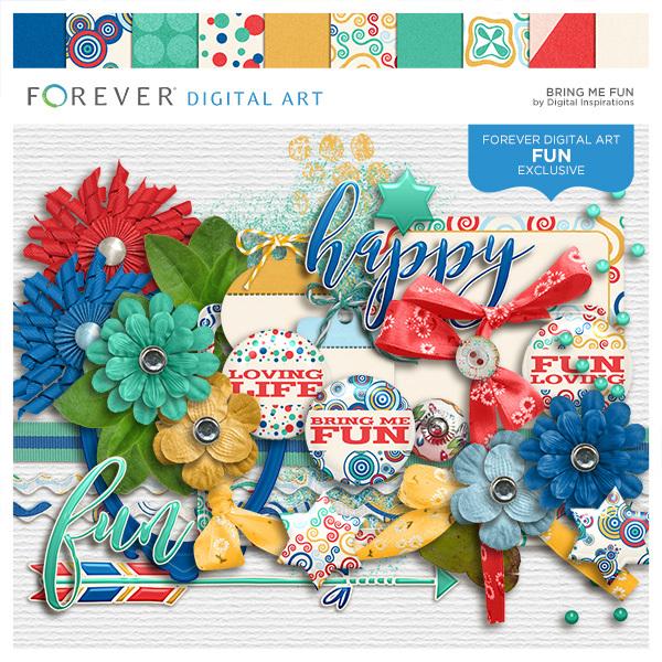 Bring Me Fun Digital Art - Digital Scrapbooking Kits