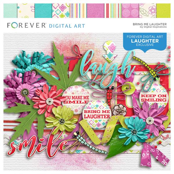 Bring Me Laughter Digital Art - Digital Scrapbooking Kits