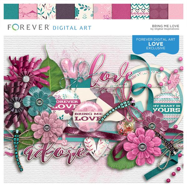Bring Me Love Digital Art - Digital Scrapbooking Kits