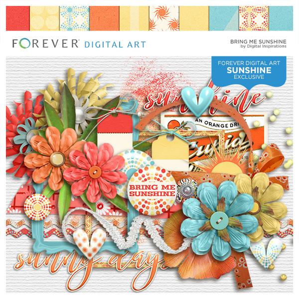 Bring Me Sunshine Digital Art - Digital Scrapbooking Kits