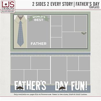 2 Sides 2 Every Story - Father's Day Digital Art - Digital Scrapbooking Kits