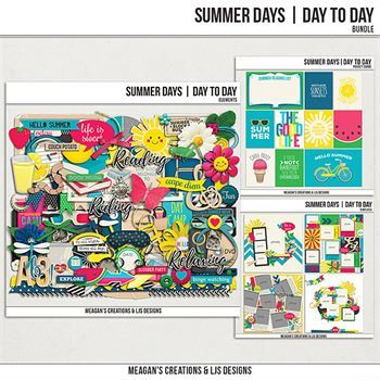 Summer Days - Day To Day Bundle Digital Art - Digital Scrapbooking Kits