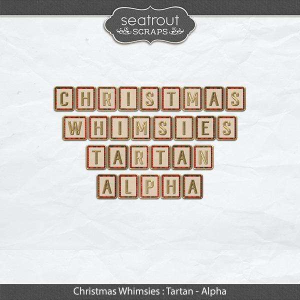 Christmas Whimsies - Tartan Alpha Digital Art - Digital Scrapbooking Kits