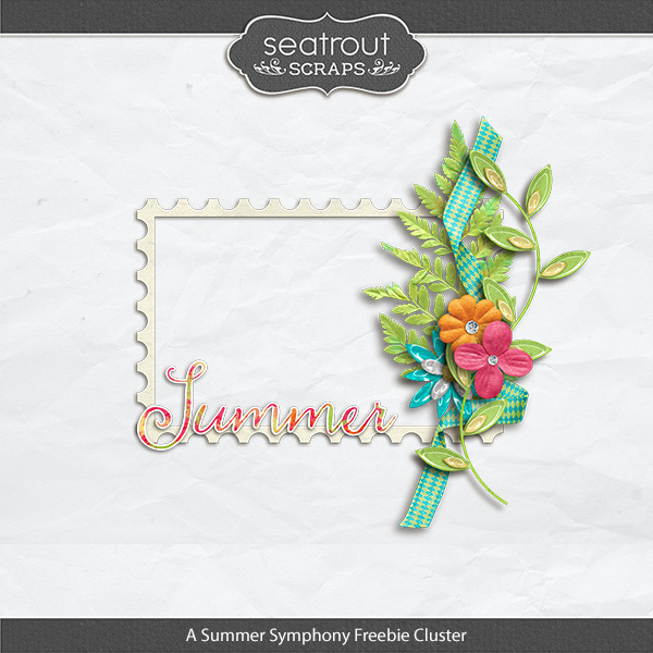 Summer Symphony Friday Freebie Digital Art - Digital Scrapbooking Kits