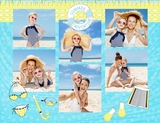Summer Vacation 11x8.5 Digital Predesigned Pages