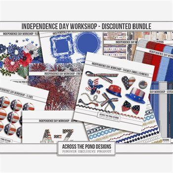 Independence Day Workshop - Discounted Bundle Digital Art - Digital Scrapbooking Kits