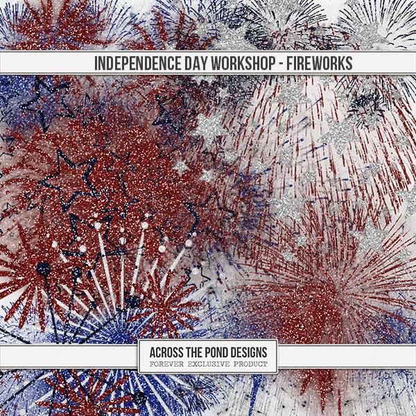 Independence Day Workshop - Fireworks Digital Art - Digital Scrapbooking Kits