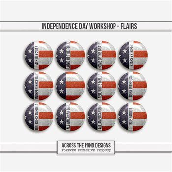 Independence Day Workshop - Flairs Digital Art - Digital Scrapbooking Kits