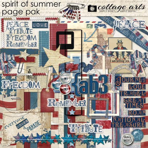 Spirit Of Summer Page Pak Digital Art - Digital Scrapbooking Kits