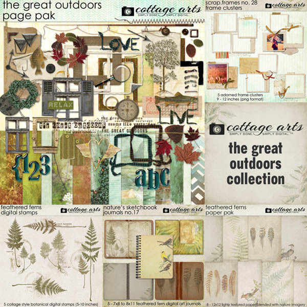 The Great Outdoors Collection Digital Art - Digital Scrapbooking Kits