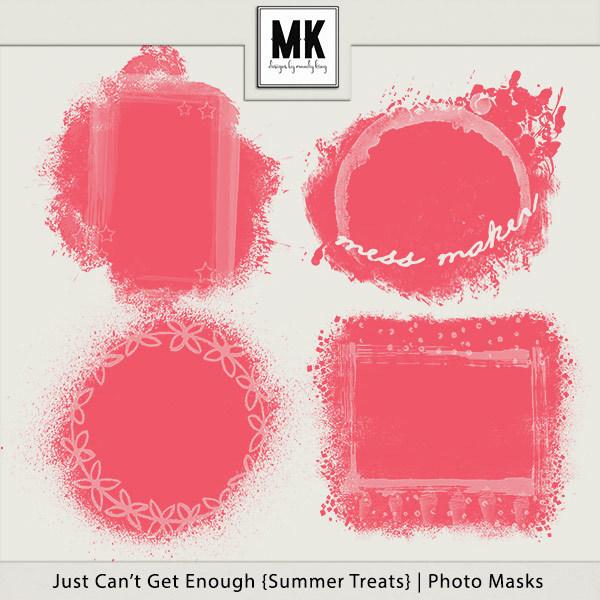 Just Can't Get Enough Summer Treats - Photo Masks Digital Art - Digital Scrapbooking Kits
