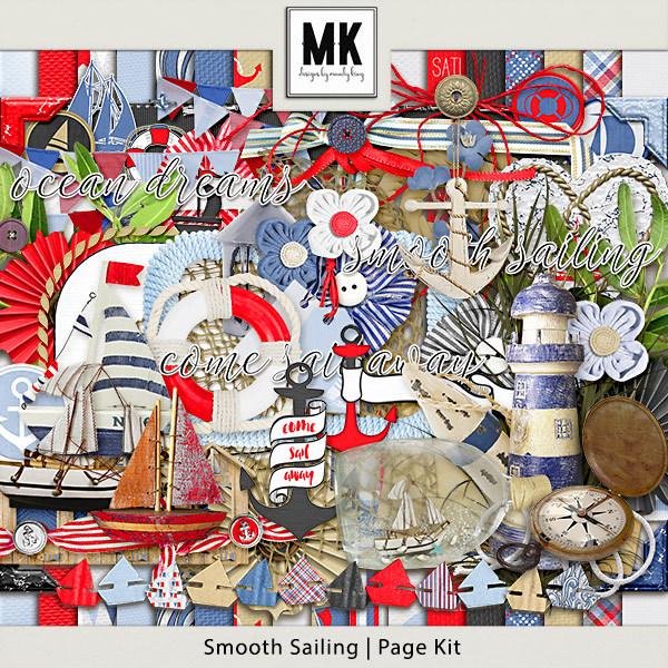 Smooth Sailing - Page Kit Digital Art - Digital Scrapbooking Kits