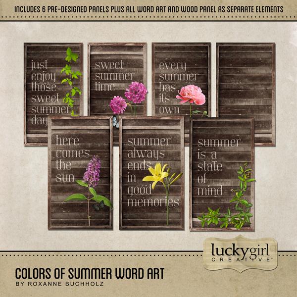 Colors Of Summer Word Art Digital Art - Digital Scrapbooking Kits