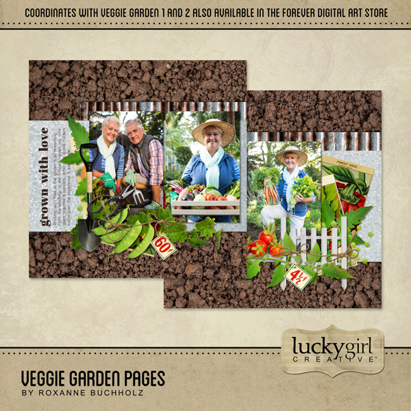 Veggie Garden Pages Digital Art - Digital Scrapbooking Kits