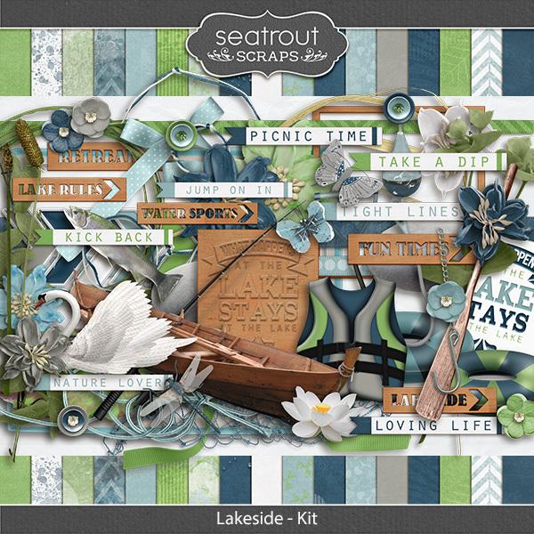 Lakeside Kit Digital Art - Digital Scrapbooking Kits