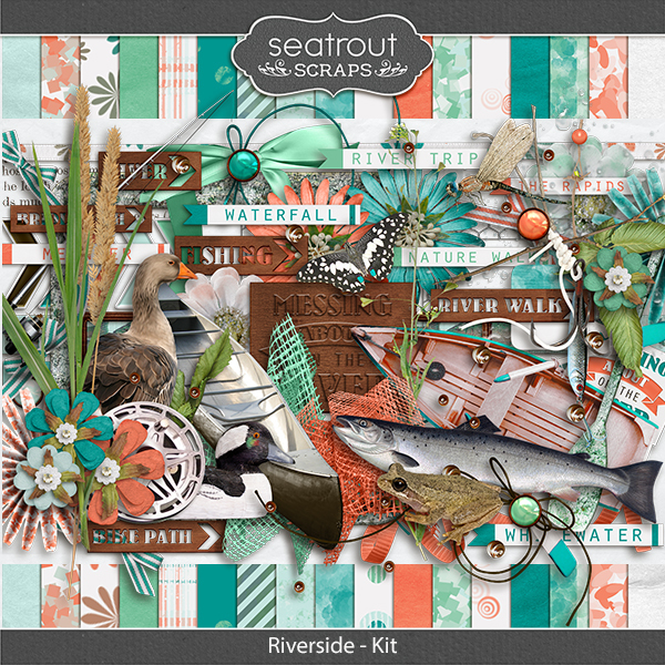 Riverside Kit Digital Art - Digital Scrapbooking Kits