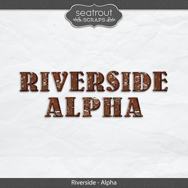Riverside Waterdrop Alpha Digital Art - Digital Scrapbooking Kits