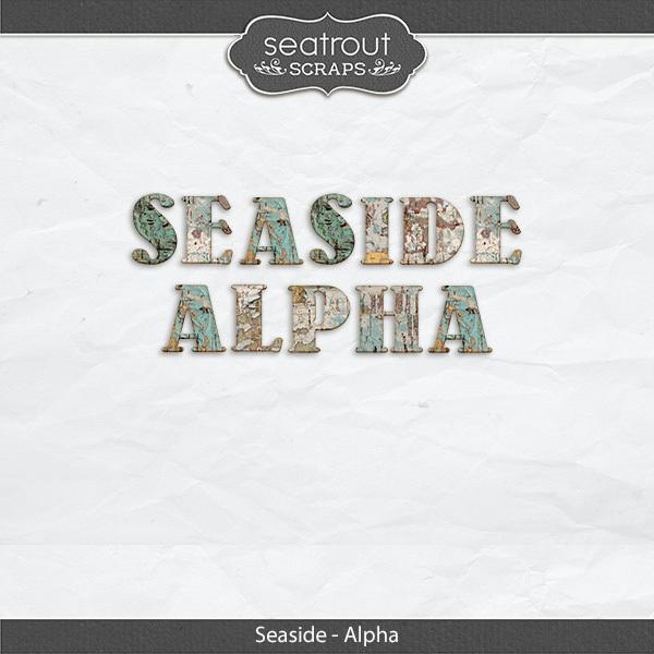 Seaside Alpha Digital Art - Digital Scrapbooking Kits