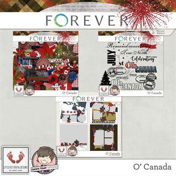 O' Canada Big Bundle Digital Art - Digital Scrapbooking Kits