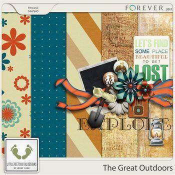 The Great Outdoors Mini Add-on 1 Digital Art - Digital Scrapbooking Kits